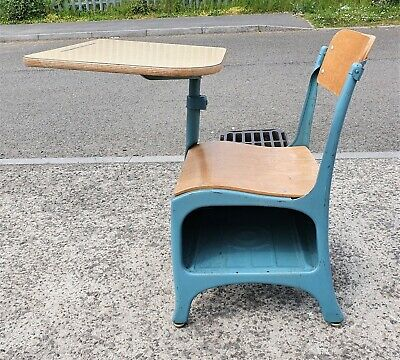 Vintage Metal & Bent Plywood Childs School Desk    Delivery Available   • 120£