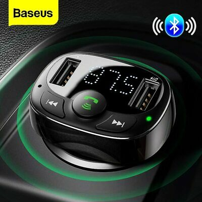 AU23.99 • Buy Baseus Handsfree FM Transmitter Wireless Bluetooth Car Kit MP3 Adapter Charger