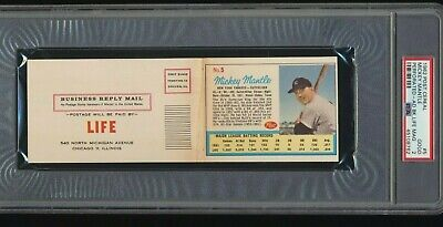 $800 • Buy 1962 Post Cereal PROMO Ad Panel Mickey Mantle With LIFE Mag Insert PSA 2 LOW POP