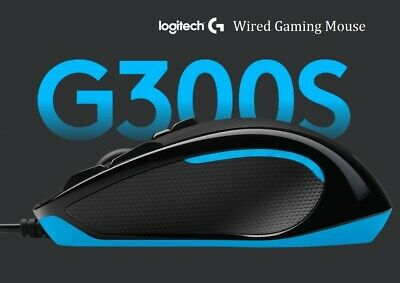 AU39.95 • Buy Logitech G300S Wired Gaming Mouse 9 Buttons RGB Programmable Optical 2500 DPI