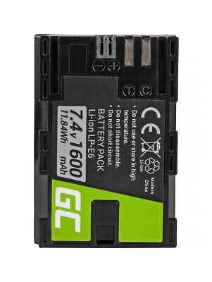 LPE6 LP-E6 LPE6N LP-E6N Replacement Battery For Canon Camera 1600mAh • 16.45£