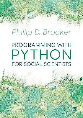 Programming With Python For Social Scientists - 9781526431721 • 25.54£