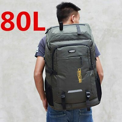 AU68.63 • Buy Backpack 80L Travel Pack Rucksack Waterproof Large Bag Men Women Hiking Climbing