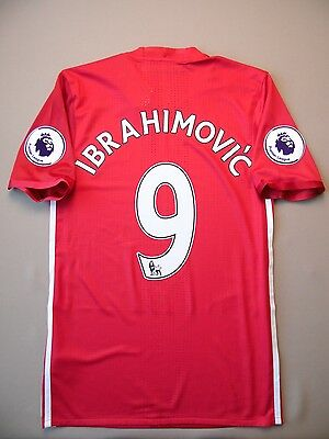 AU156.74 • Buy Ibrahimovic Manchester United Jersey 2016 Home Player Issue S Shirt Adizero Ig93