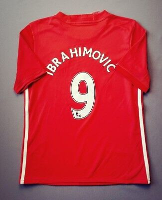 AU25.71 • Buy Ibrahimovic Manchester United Jersey 2017 2018 Home 11-12 Y Youth Adidas Ig93