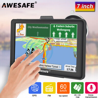 AU86.99 • Buy 7 Awesafe GPS Navigation Portable Navigator For Car Truck With 8GB Australia Map