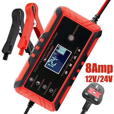 View Details 8A Smart Automatic Car Battery Charger Jump Starter Pulse Repair 12V 24V AGM/GEL • 20.99£