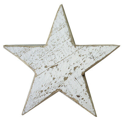 £5.99 • Buy White Wooden Star Shaped Ornament Christmas Decoration By All Chic