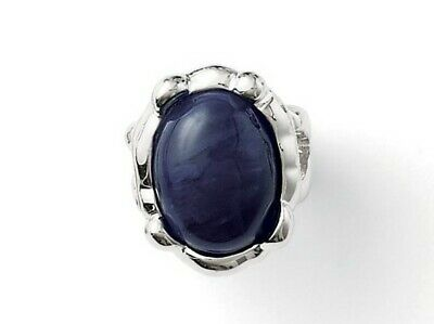 $ CDN18.74 • Buy New! Lia Sophia  Denim Dreams  Silver Tone Ring W/Navy Blue Center Stone Size 9
