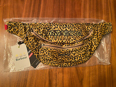 $ CDN195 • Buy Supreme Barbour Waxed Cotton Waist Bag Leopard Spring Summer 2020