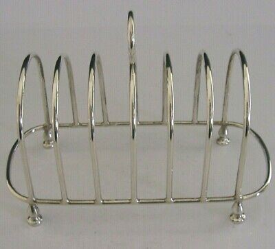 Quality English Sterling Silver Six Slice Toast Rack 1995 • 145£