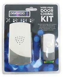 Wire Free Door Chime Set Kit 24 Sounds Bell Battery Operated Waterproof By PIFCO • 6.99£
