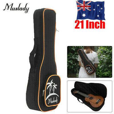 AU14.16 • Buy Muslady 21 Inch Soprano Ukulele Bag Uke Ukelele Zippered Case Coconut Tree
