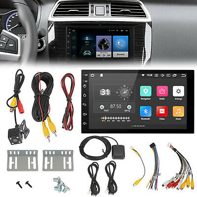 AU163.08 • Buy 7  HD Stereo BlueTooth Player+Camera GPS Navigation Double DIN Car Android 8.1 S