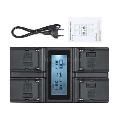 AU46.65 • Buy NP-F970 4Channel Camera Battery Charger LCD For SONY NP-F550 F750 F950 FM50 QM71