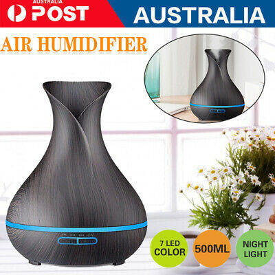 AU16.39 • Buy Aroma Diffuser Aromatherapy Ultrasonic Air Mist Humidifier Purifier LED Electric