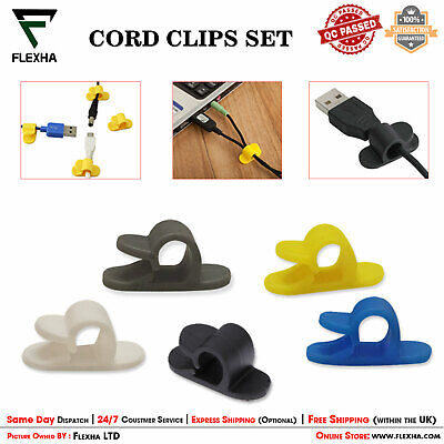 Self Adhesive Car Wire Clips Mini Rectangle Tie Sticker USB Cable Cord Holder UK • 2.80£
