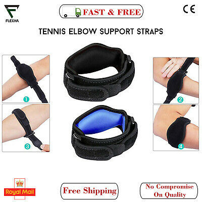 Tennis Elbow Support Brace Golfers Strap Epicondylitis Sports Arthritis Straps • 3.99£