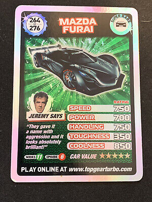 Top Gear Turbo Challenge Super Rare Mazda Furai Carr 264/276 • 4£