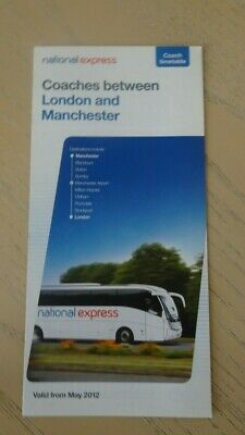 National Express  Coach Timetable - Manchester / London - 2012 • 2£