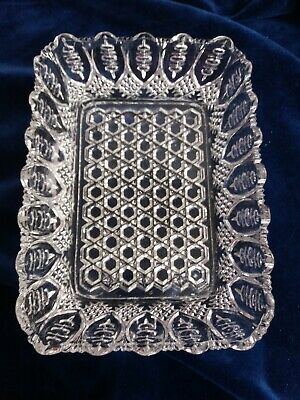 19th Century / Victorian Pressed Glass Oblong Serving Dish  • 14£
