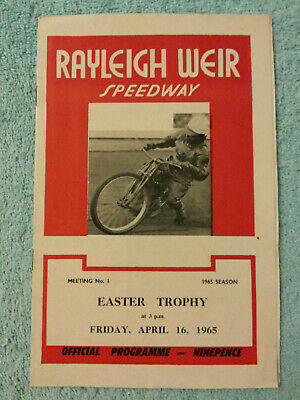 £3 • Buy RAYLEIGH WEIR SPEEDWAY 1965 ORIGINAL PROGRAMME. EASTER TROPHY. 16th APRIL. 1st M