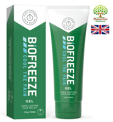BIOFREEZE PAIN RELIEF GEL 118ml (New Pack) For Muscle Aches And Joint Discomfort • 9.35£