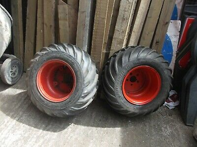 TWO TYRES WITH RIMS 26 X 12-12 4PR - SMALL TRACTOR/LAWN  MOWER - New • 180£