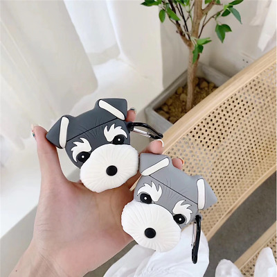 $ CDN11.47 • Buy Earphone Case For AirPod 1/2 Lovely Cute Schnauzer Dog Silicone Protective Cover