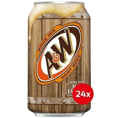 A&W Root Beer Soda Drinkcase Of 24 X 355ml Cans USA Import  • 27.99£