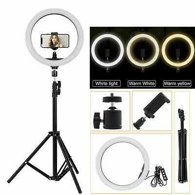 10 Inch Ring Light With Stand Kit Phole Selfie Tripod Photo Video Dimmable UK • 19.99£