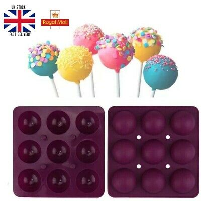 £2.49 • Buy 9 Units Hole Silicone Cake Pop Mould With Sticks Easter Egg Lollipop Chocolate