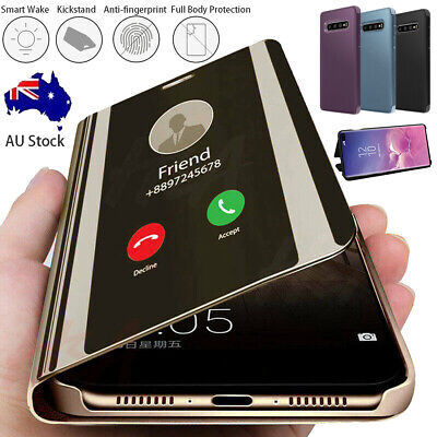 AU10.89 • Buy For Samsung Galaxy S20 Note20 UItra S10 9 8+ Smart Clear Mirror Stand Case Cover