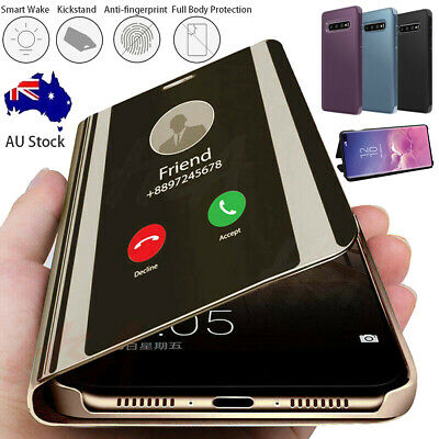 AU10.89 • Buy Samsung Galaxy Note20 UItra S10 9 8+ Smart Clear Mirror Leather Stand Case Cover