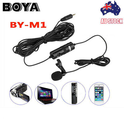 AU26.72 • Buy BOYA BY-M1 Lavalier Microphone For Mobile Phone DSLR Camera Camcorder PC F4V2