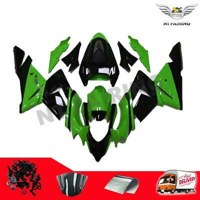 $509.99 • Buy MS Fit For Kawasaki 2004 2005 ZX10R Green Black Injection Fairing Plastic C007