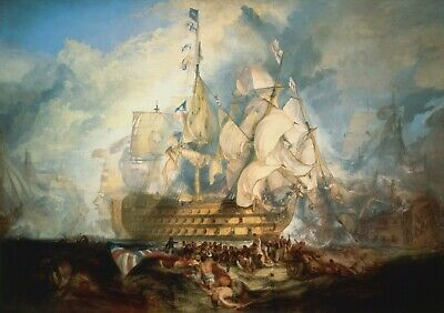 £15.99 • Buy The Battle Of Trafalgar J.M.W. Turner Art Painting   A0 A1 A2 A3 A4 Photo Poster
