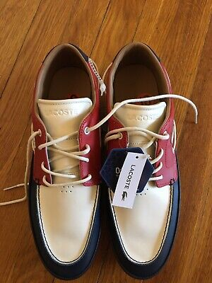 Lacoste Men's Sport Casual Leather Boat SHOES Size US 10 • 95.76£