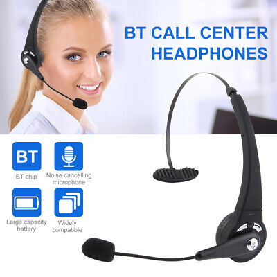 Bluetooth Noise Cancelling Microphone Headset Call Centre Office PC Headphones • 16.46£