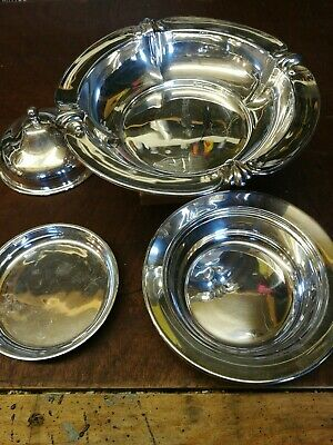 4 Pcs Vintage Butter Dish. Silver Plated. Cameron Kilmarnock, Sheffield • 16£