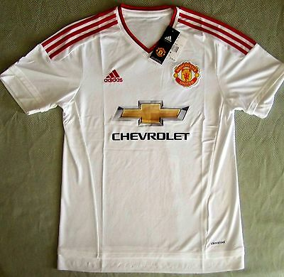 $29.99 • Buy Adidas $90 Premier League Soccer Jersey Manchester United 2016 Away White Size M