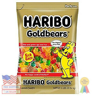 $22.77 • Buy Haribo Gold-Bears Gummi Candy, Original Flavor, 5-Pound Bag