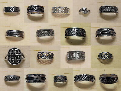 925 Stamped Sterling Silver Rings 51 Designs Sizes From UK G - Z+5 US 3.5 - 15.5 • 7.95£