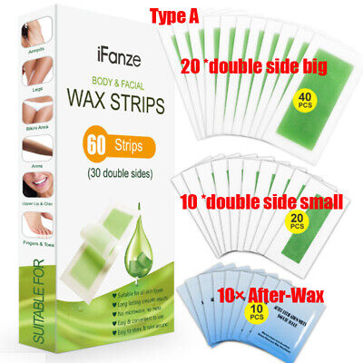 $12.99 • Buy 50Pcs Wax Strips Hypoallergenic Face Body All Skin Types Facial Hair Removal