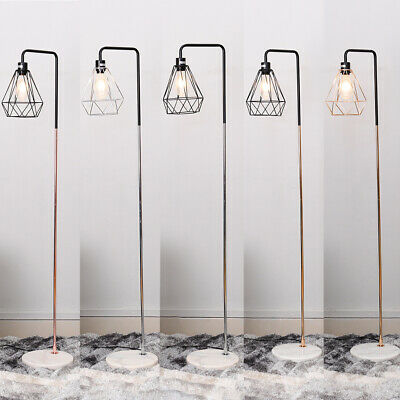 Tall Floor Standing Lamp Reading Room Table Lamps W/ Retro Lampshade+Marble Base • 50.95£