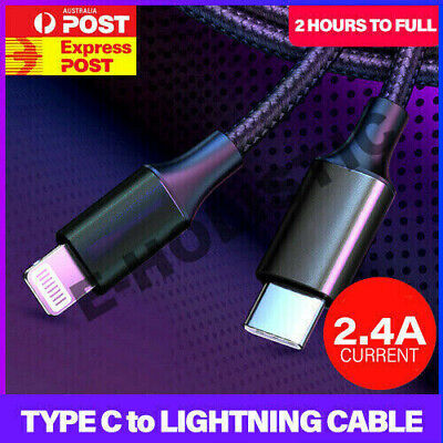 AU9.95 • Buy USB 3.1 USB-C Type C To Lightning Cable PD Charger For Macbook IPhone 11 Pro Max