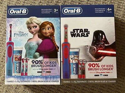 AU41.98 • Buy Oral-B Kids Rechargeable Toothbrush ,Toothpaste, 3 Heads Gift Set