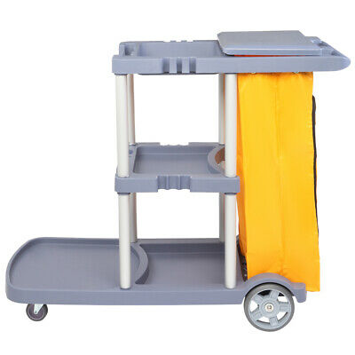 $97.39 • Buy Oshion Washing Car Janitorial Cart With Cover Mute Wheel Canvas Bag Gray