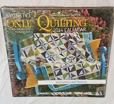 $4.97 • Buy 12 Patterns & Instructions From American Patchwork & Quilting Calendar 2014