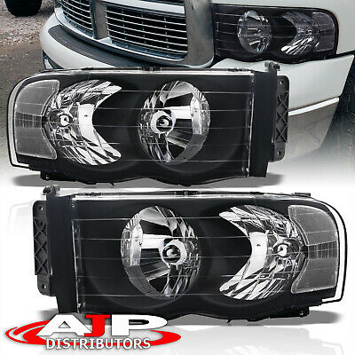 $77.99 • Buy Black Clear Replacement Driving Headlights Lamps LH RH For 2002-2005 Dodge Ram